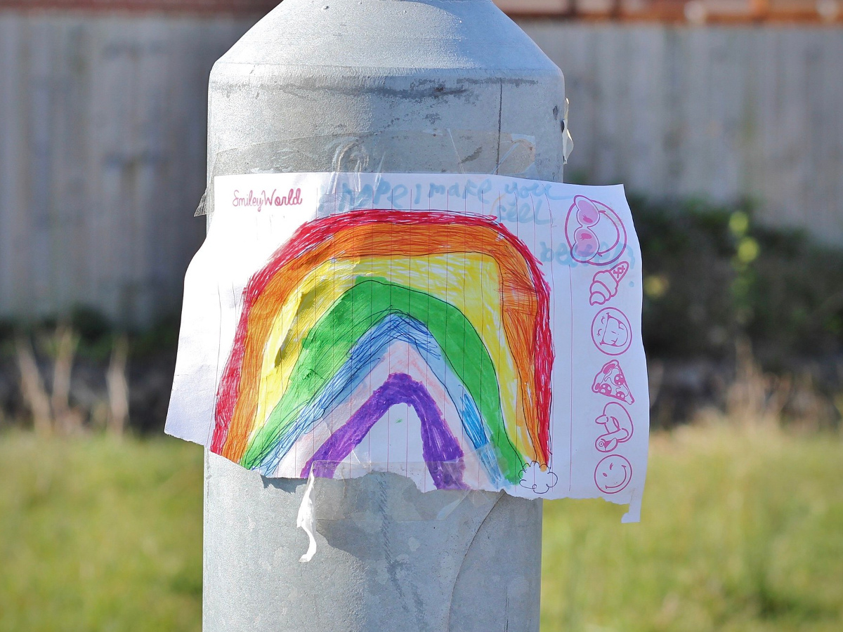 Photo of rainbow drawing by Catherine Thackstone, Flickr